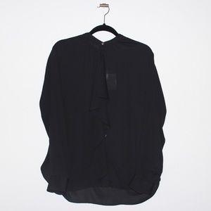 Ralph Lauren Black Long Sleeves chiffon blouse